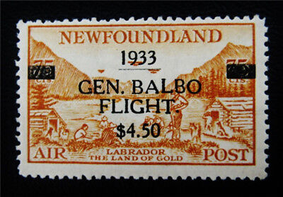 nystamps Canada NewFoundland Air Mail Stamp # C18 Mint OG H $325