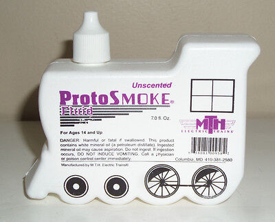 MTH UNSCENTED PROTOSMOKE FLUID 7oz.- NEW