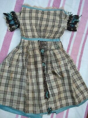 Antique Victorian Silk Dress Doll Accessory Clothing