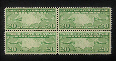 nystamps US Air Mail Block Stamp # C9 Mint OG NH $54 Block Of 4