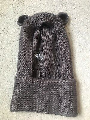 Next Girls Bear Hat Snood Set With Ears Grey 7-10 Years 7-8 8-9 9-10