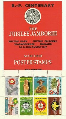 1957 Boy Scout World Jamboree Labels / Seals And Folder
