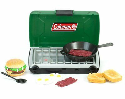 Camp Stove + Food + Frying Pan +Spatula for American Girl Dolls Coleman Brand