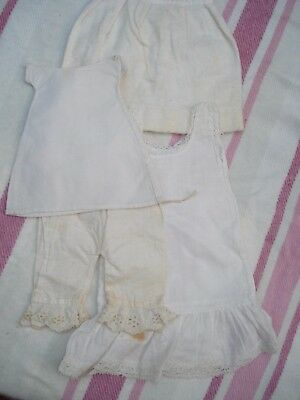 Antique Victorian Doll Accessory Clothing Underwear Bloomers Petticoats