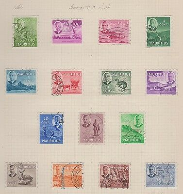MAURITIUS 235-49 Geo VI set complete to 10r used 1950