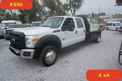 2011 Ford F550 XLT 4wd Flatbed Crew Cab 6.7 Powerstroke Diesel Used flatbed