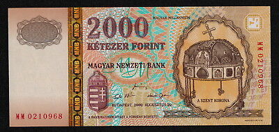 HUNGARY (P186a) 2000 Forint 2000 UNC COMM.