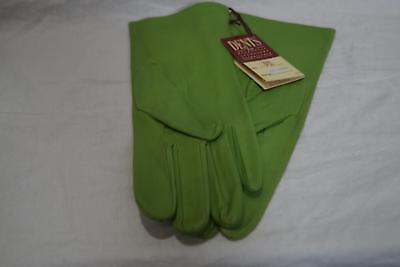 New W Tags: Dents Lime Green  Leather Gloves Ref Lhc Size 7.5
