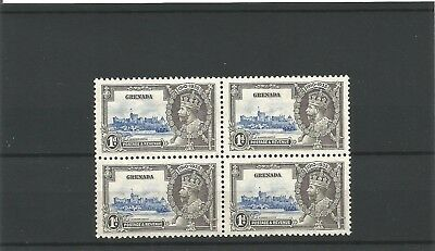 GRENADA 1d S. Jubilee Block of 4  mounted on top 2 stamps MINT