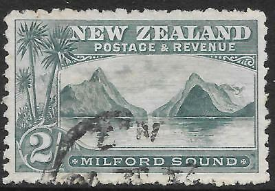 NEW ZEALAND 1899 2s blue-green P.11 no watermark, used. SG 269.