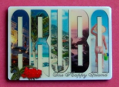 Souvenir Fridge Magnet Aruba The Happy Island Dutch Caribbean
