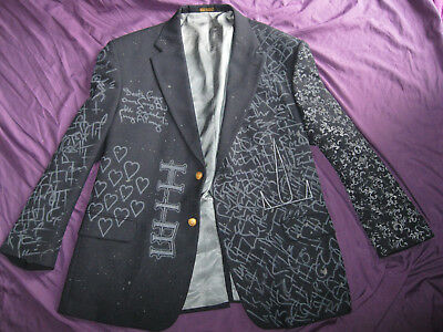 BAM MARGERA PAINT SPLATTERED HEARTAGRAM JACKET XL HIM ville valo shirt blazer