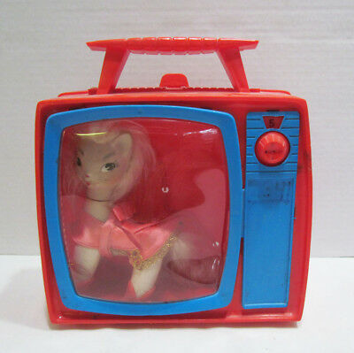 REMCO 1966 PUSSY MEOW CAT DOLL W/ CARRYING CASE & OUTFIT from TV JONES SERIES
