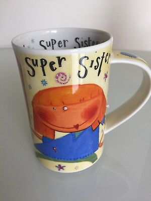 Scottish Dunoon Stoneware Mug  Super Sister  Designed Katie Brettell Coffee Mug