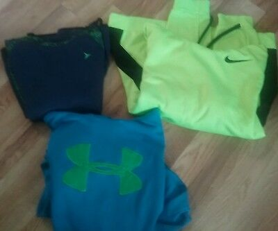 Lot of  3 Under armour hoodie..Nike..lg FREE SHIP