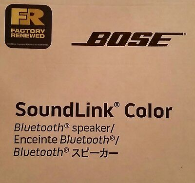 Bose Soundlink Colour Bluetooth Lautsprecher * Schwarz * Wie Neu&ovp*refurbished