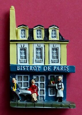 Souvenir Fridge Magnet Paris Bistrot France