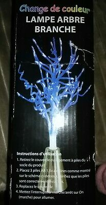 Arbre Lumineux Noel Branches Bleues Neuf