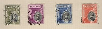 ZANZIBAR 214-217 set of 4. Sultan's 25th Anniversary