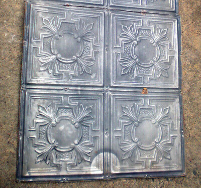 "24"" x 24"" Antique Victorian Gothic Ceiling Tin Tile Fleur De Li Gorgeous Chic"