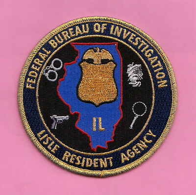 D13 *#1 Gman Fbi Chicago Lisle Illinois Ra Office Federal Police Patch Atf Gold