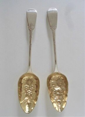 2 Coin Silver Serving Spoons By Wm. Eley & Wm. Fearn 1802-3, 158 Grams