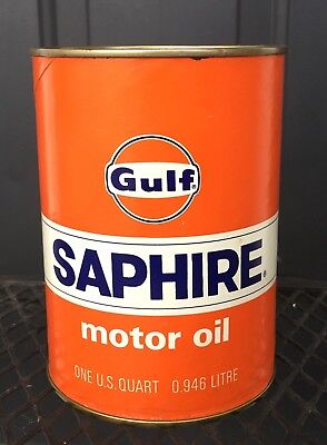 Vintage Gulf Saphire 1 Qt. Oil Can