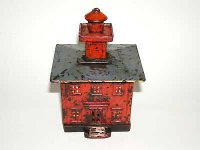 Rare Cast Iron Red English Cupola Building Bank Chamberlain & Hill (DAKOTApaul)