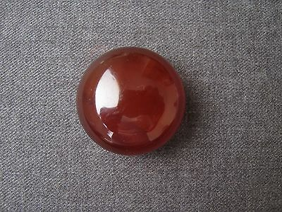 Antique 1930's Large Marbled Brown Bakelite Tested Button    #885