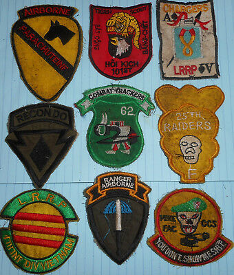 RA9 - RARE LOT x 9 - US RANGER RECON PATCH - PATCHES - US AIRBORNE - Vietnam War