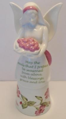 Lenox Butterfly Meadow Bless My Meals Kitchen Angel Bell Figurine New in Box