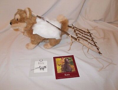 American Girl Doll KAYA's Dog Tatlo with Travois and Blanket New!