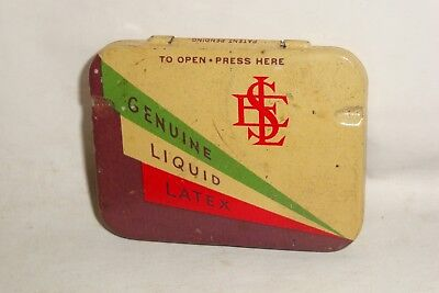Nice Old LES Condom Prophylactic Advertising Pharmaceutical Medicine Tin Can