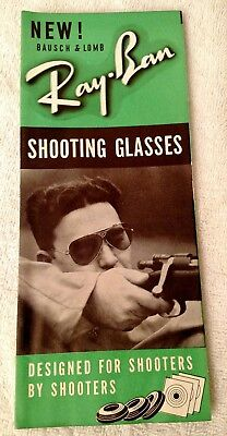 Vintage 1939 Ray-Ban Pilot Aviator Sunglasses Bausch & Lomb Pamphlet Brochure Ad