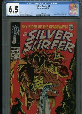 Silver Surfer #3   (1st Mephisto)  CGC 6.5   C-OWP