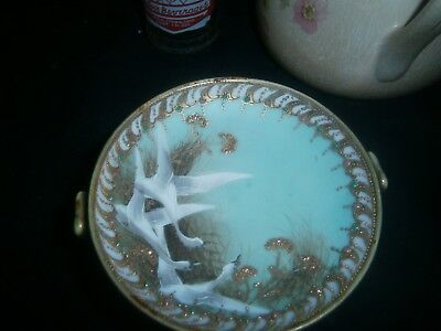 """Hand Painted Signed Nippon 2.5"""" Compote"""
