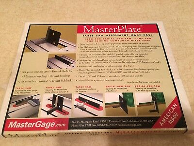 MasterGage MASTERPLATE MP-1 Master Plate Table Saw Precision Wood Working Guage