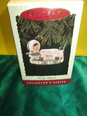 Hallmark 1996 Keepsake Collector Series Ornament Frosty Friends 17th Pool Table