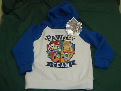 boys size 4 paw patrol hoodie hooded jumper new nwt