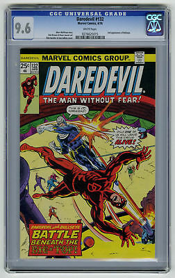 Daredevil #132 CGC 9.6 HIGH GRADE Marvel Comic 2nd Bullseye VINTAGE Bronze 25c
