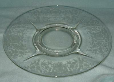 Paden City Glastony Lotus Bridal Bouquet Etch Footed Serving Plate 12""