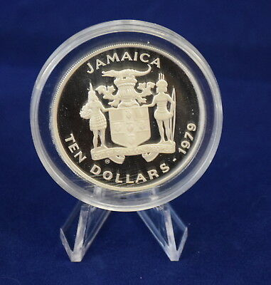 Jamaica 10 Dollars, 1979, International Year of the Child Silver