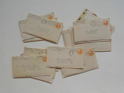 17 WWII Letters Pilot 18th Fighter Group APO Air Force WW2 La Canada California