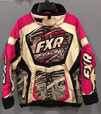 FXR Youth Girls SZ 12 Pink Insulated F.A.S.T. Snowmobile Jacket