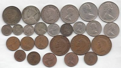 New Zealand Silver plus other coins (26 total 1930's-1960's)...99 cents...NR!