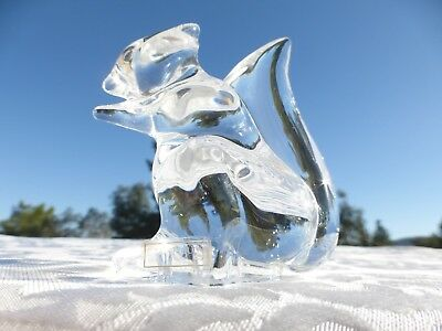 Wonderful signed ST LOUIS Crystal Squirrel Figurine Sculpture Made in France