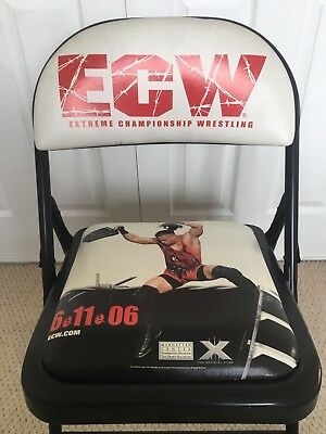 ECW One Night Stand 2006 PPV Ringside Event Folding Chair wwf WWE wrestling