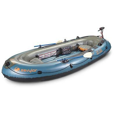 inflatable boat sevylor fish hunter 360 6 person + motor