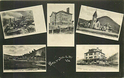 Saltville, Virginia, 1908 Multi View, Vintage Postcard