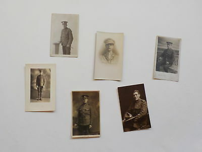 6 WWI Photo Postcards Soldiers England WW1 Photographs Old Post Cards VTG WW I N